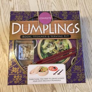 New Dumplings Kit with Book, Bamboo Steamer...